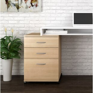 Symple Stuff Jodi 3 Drawer Mobile Filing Cabinet