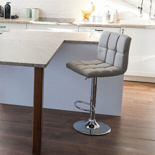 Haiden Adjustable Height Swivel Bar Stool by Wrought Studio
