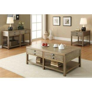 One Allium Way Laisha Minimal Wooden Coffee Table