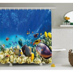 Aquatic Decor Single Shower Curtain