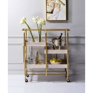 Foldable Gold Bar Carts You Ll Love In 2021 Wayfair