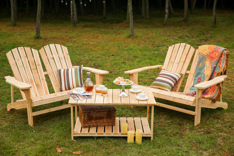 Picture of: Loon Peak Ogrady Wood Adirondack Chair With Table Reviews Wayfair