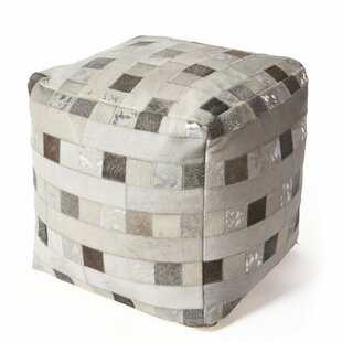 Ritchie Hide Elements Leather Pouf by Union Rustic