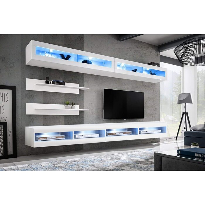 Lonergan Wall Mounted Floating Entertainment Center For Tvs Up To 90