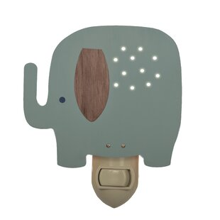 Elephant Night Light By Tree by Kerri Lee Wall Lights