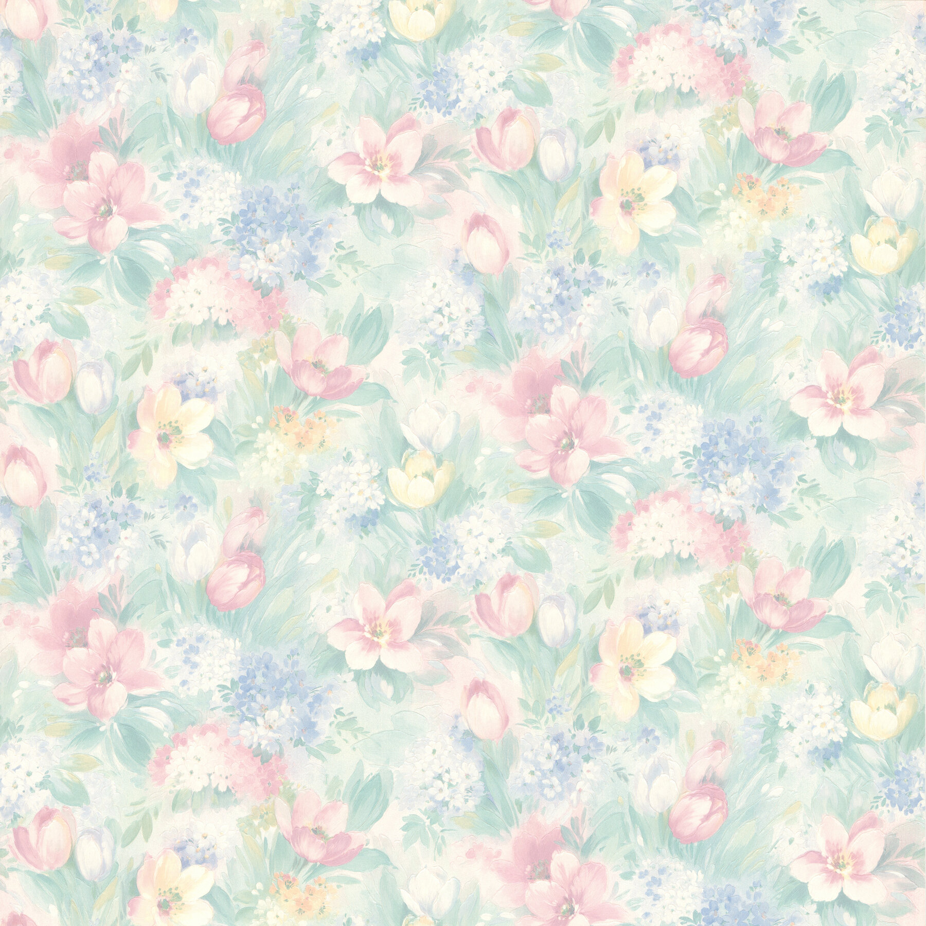 August Grove Aiko Pastel 33 X 20 5 Floral Wallpaper Wayfair