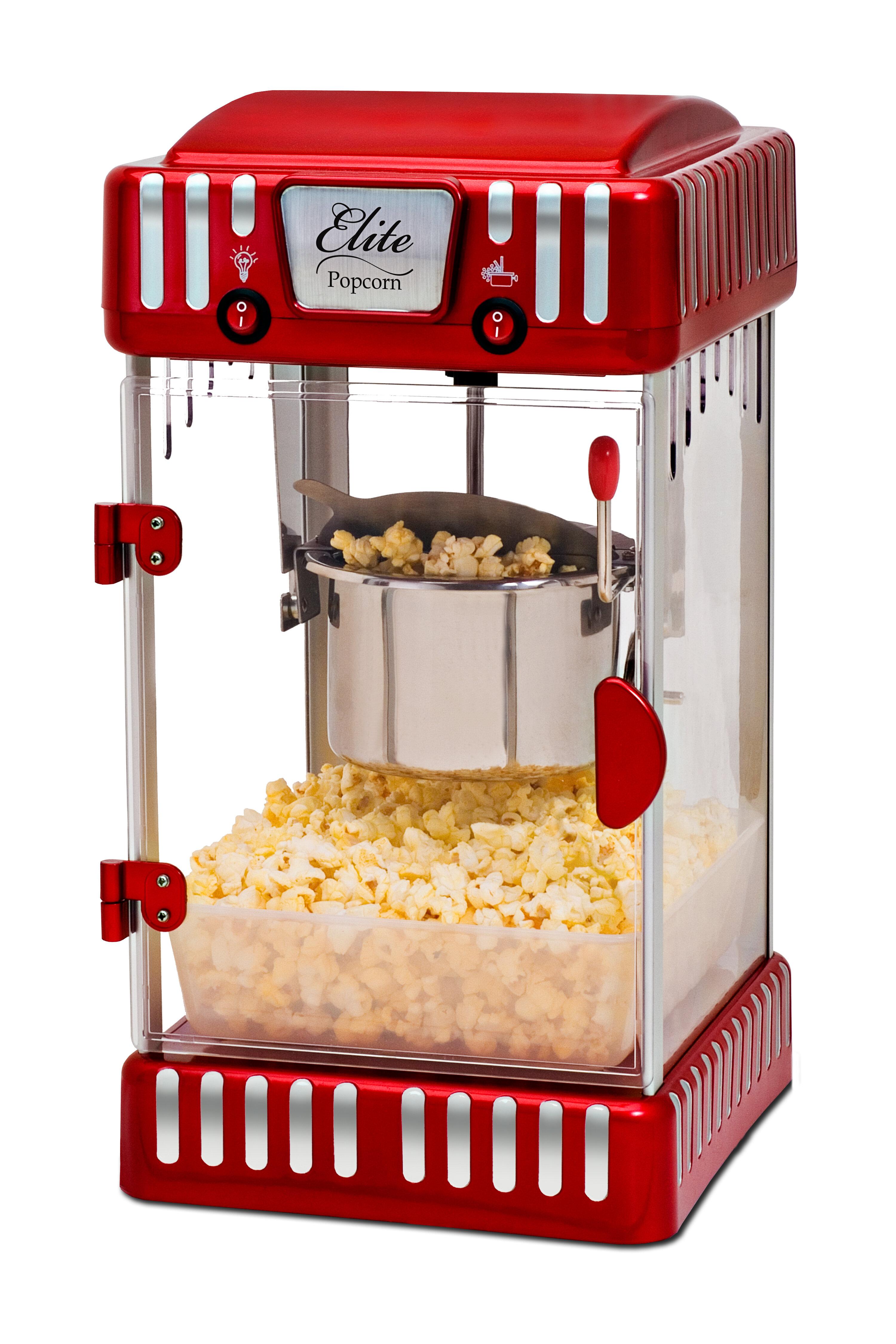 Elite By Maxi Matic 2 5 Oz Classic Tabletop Kettle Popcorn Maker Reviews Wayfair
