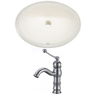 Where buy  Ceramic Oval Undermount Bathroom Sink with Faucet and Overflow By American Imaginations