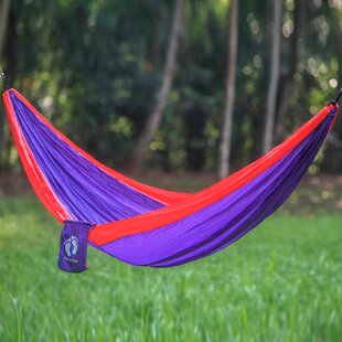 Novica Single Person Fair Trade Light Weight Easy Set-Up Tropics for Hang Ten' Hand-Woven Indonesian Nylon with Hanging Accessories Included Camping and Outdoor Hammock
