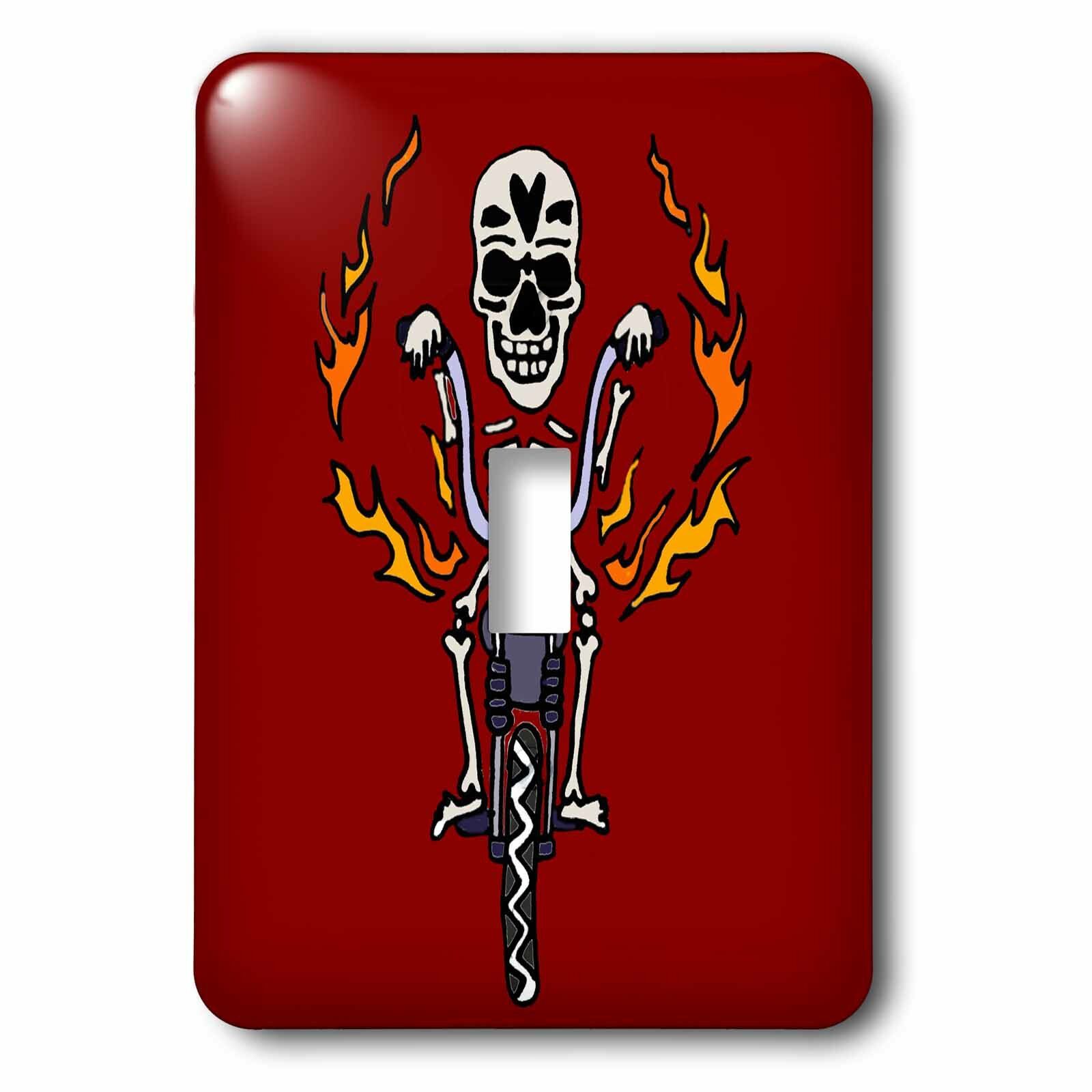 3drose Skeleton Riding Motorcycle 1 Gang Toggle Light Switch Wall Plate Wayfair