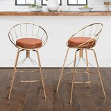 Chasteen Swivel Counter Stool (Set of 2) by Everly Quinn