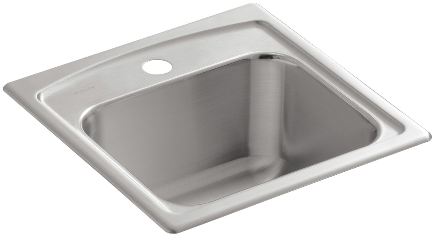 Toccata Top Mount Bar Sink With Single Faucet Hole