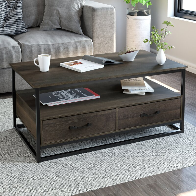 Union Rustic Southside Frame Coffee Table with Storage