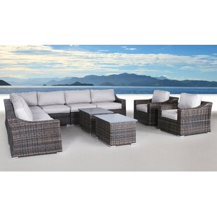 Rosecliff Heights Huddleson 11 Piece Sectional Set with Cushions