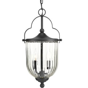 Best Price Peoria 3-Light Outdoor Hanging Lantern By Charlton Home