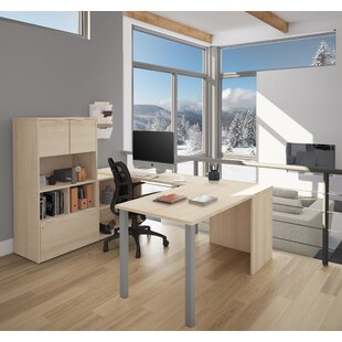 Brayden Studio Prattsburgh U-Shape Executive Desk with Hutch