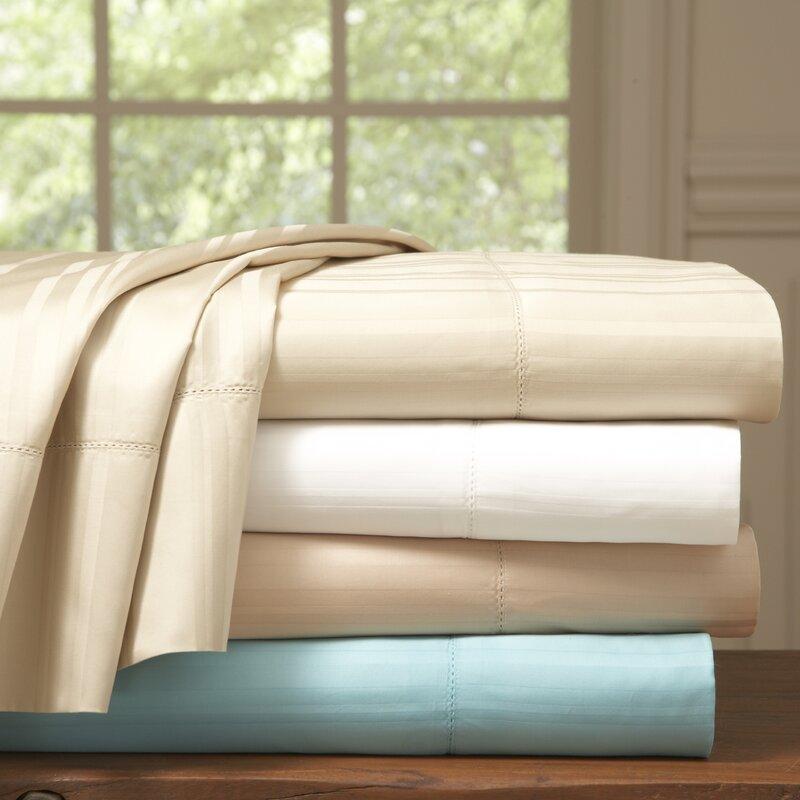 Stripe 510 Thread Count Pima Cotton Sheet Set