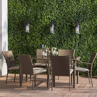 Rosalyn 7 Piece Dining Set With Cushion
