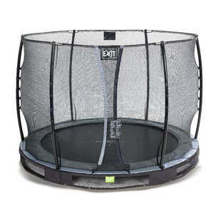 Elegant 11' Backyard In-Ground Trampoline With Safety Enclosure By Exit Toys