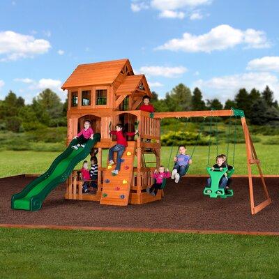 Liberty II All Cedar Swing Set - Backyard Discovery Shenandoah All Cedar Swing Set & Reviews Wayfair