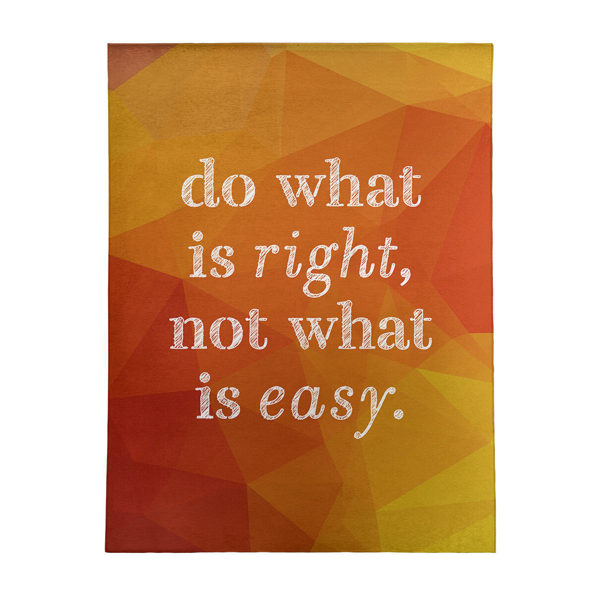East Urban Home Faux Gemstone Do What Is Right Quote Poly Chenille Rug Wayfair