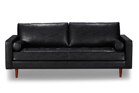 Bombay Leather Sofa Allmodern