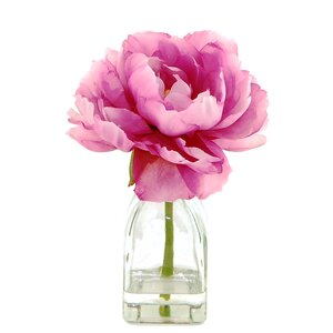 Peony in a Glass Jar with Faux Water