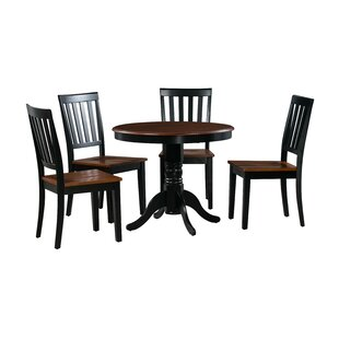 Erica 5 Piece Solid Wood Dining Set Alcott Hill