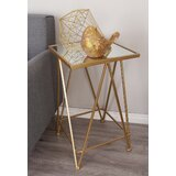 Giglio Metal and Mirror Tray 2 Piece End Table Set by Mercer41
