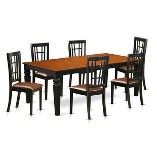 Beesley 7 Piece Rectangular HardWood Dining Set DarHome Co