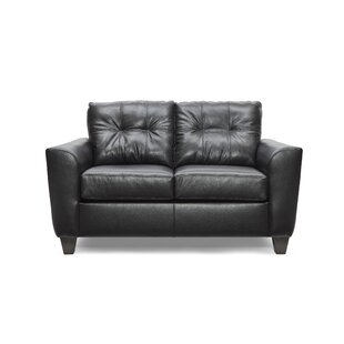 Madore Leather Loveseat