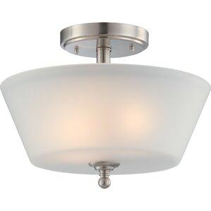 reynal 2light semiflush mount - Semi Flush Mount Lighting