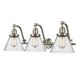 17 Stories Chittening Cone 3-Light Vanity Light