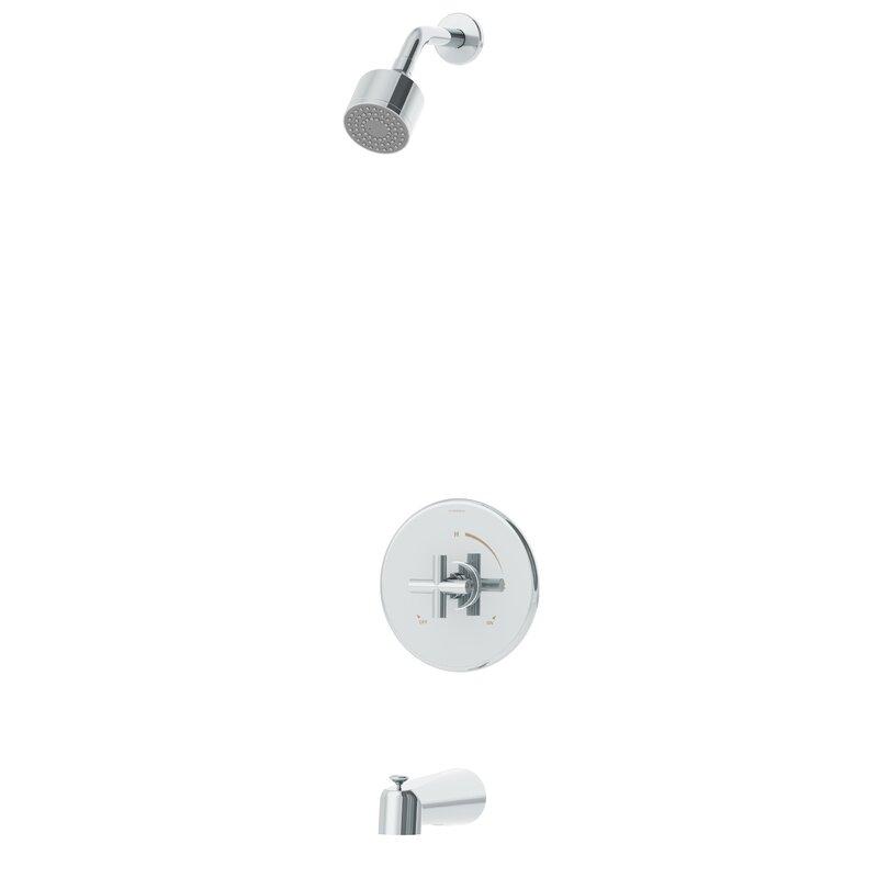 Symmons Dia 1 Handle Tub And Shower Valve Faucet Trim Kit With Knob Handle Wayfair