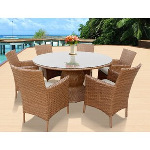 Medina Patio 7 Piece Dining Set with Cushions