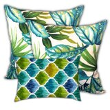 Ricka Tropical Sunlight Indoor / Outdoor Pillow Cover