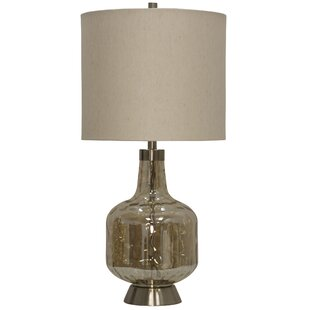 Maude Glass and Steel Base Transitional 31.5 Table Lamp