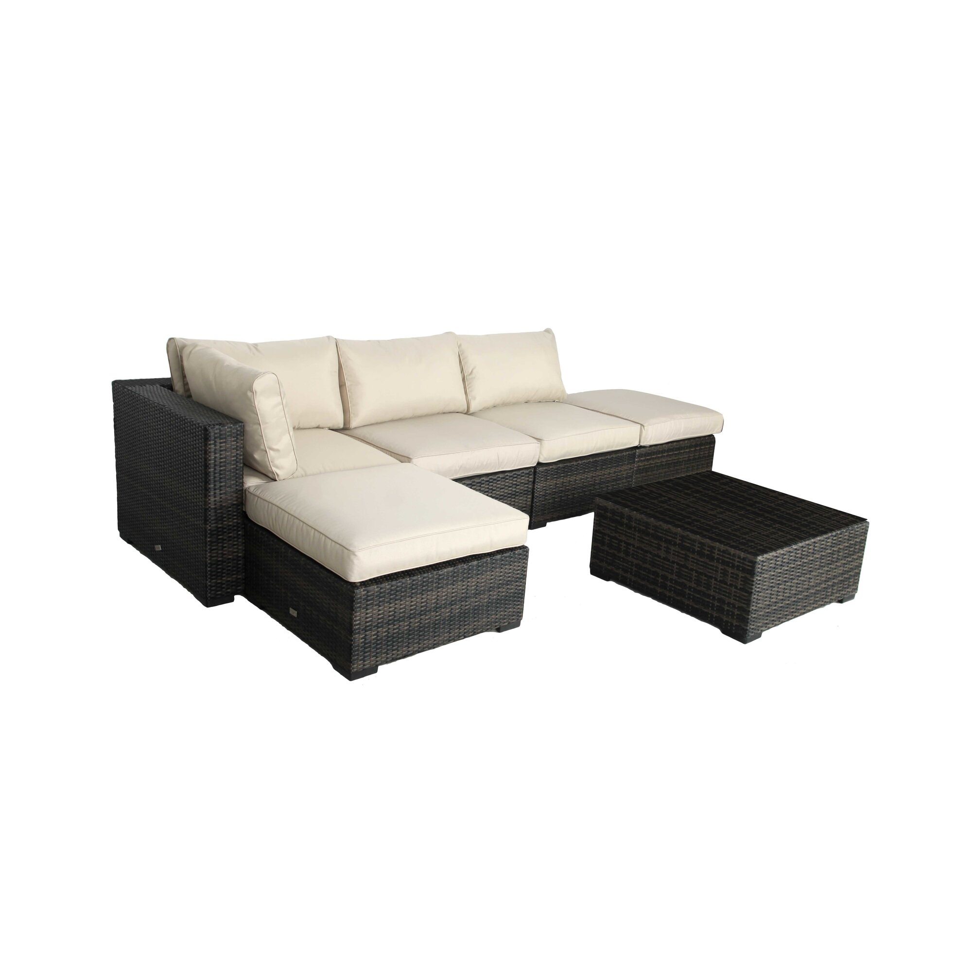 Brayden Studio Lara 6 Piece Sectional Seating Group with Cushions