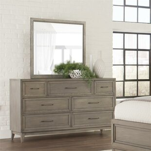 Gracie Oaks Workman 7 Drawer Dresser with Mi..