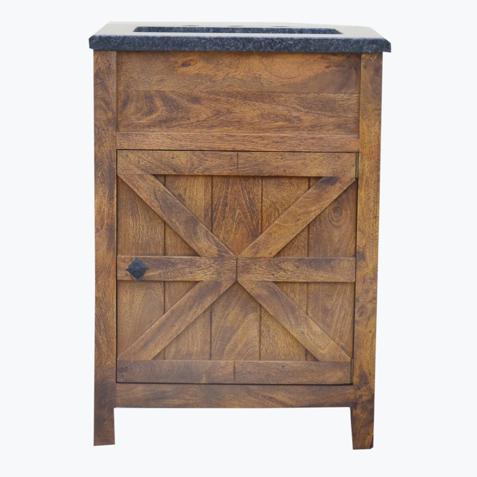 Millwood Pines Esters Barn Door 24 Single Bathroom Vanity Set