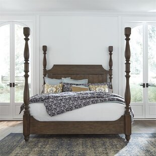 Chamness Queen Low Profile Four Poster Bed by Canora Grey