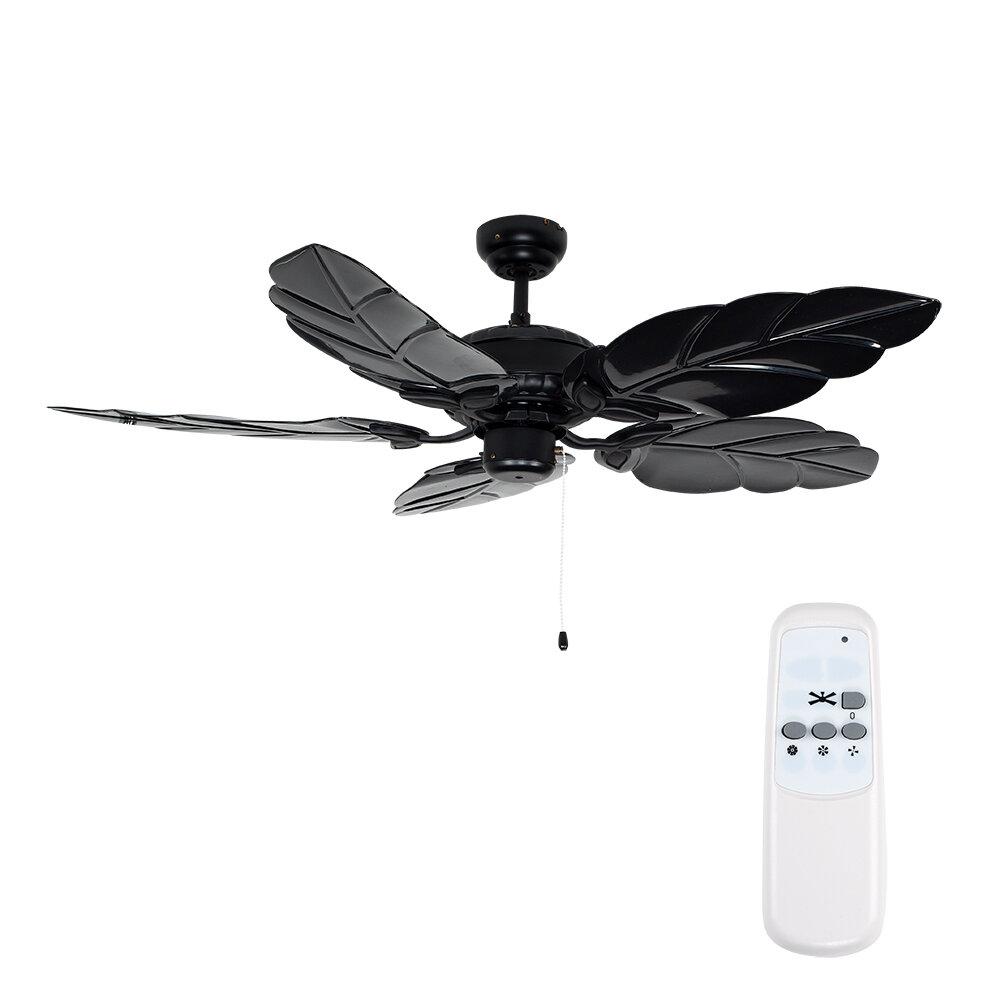 Minisun 132cm florida 5 blade ceiling fan with remote control minisun 132cm florida 5 blade ceiling fan with remote control wayfair aloadofball Gallery