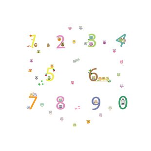 Number Wall Sticker Set By 17 Stories