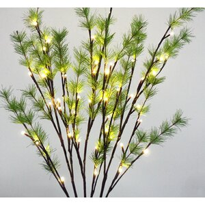 2 Piece 48 LED Light Covered Pine Needle Branch