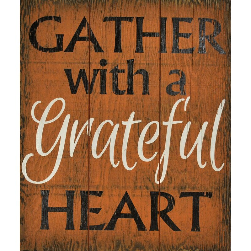 'Gather with a Grateful Heart' Wall Decor
