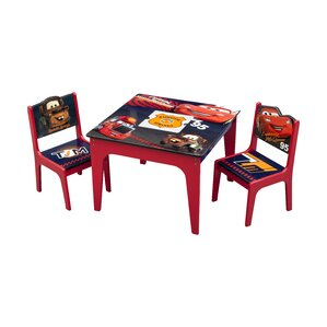table and chair set for toddlers. cars kids 3 piece table and chair set for toddlers