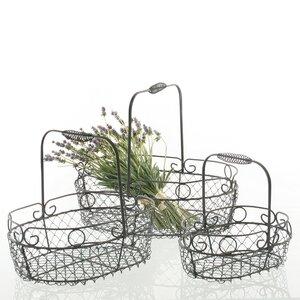3-tlg. Korb-Set Garten aus Metall von dio Only for You