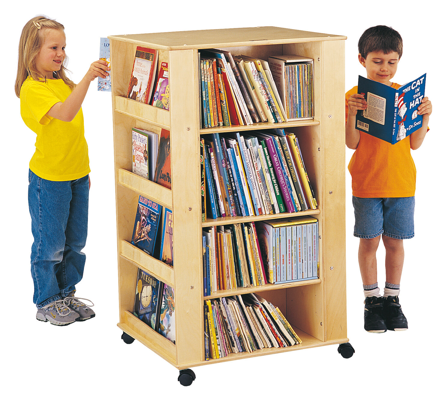 Jonti Craft Double Sided Shelving Unit With Wheels Reviews Wayfair