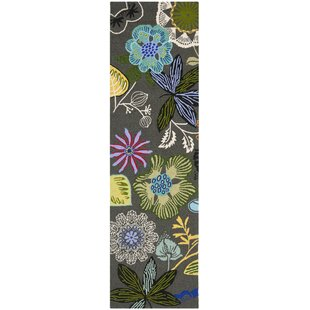 Hayes Hand-Hooked Gray/Green Indoor/Outdoor Area Rug