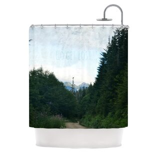 Go Get Lost Single Shower Curtain